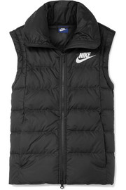 Quilted shell down vest