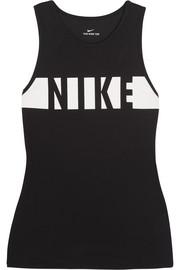 Nike Printed Dri-FIT cotton-blend jersey tank