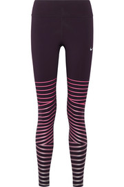 Nike Power Epic Lux metallic striped  Dri-FIT stretch leggings