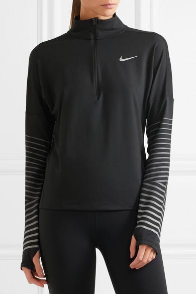 Nike Flash Element Oberteil aus Jersey mit Mesh-Einsatz