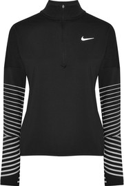 Nike Flash Element mesh-paneled jersey top