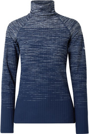 Nike Hyperwarm ribbed stretch-knit turtleneck top