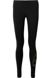 Nike Metallic printed stretch cotton-blend leggings
