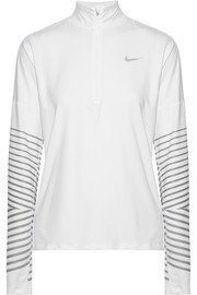 Nike Flash Element metallic striped Dri-FIT stretch top
