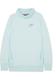 Nike Ice Flash quilted cotton-blend jersey turtleneck sweatshirt