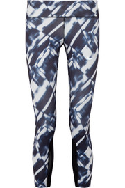 Nike Power Epic Run mesh-trimmed printed Dri-FIT stretch leggings