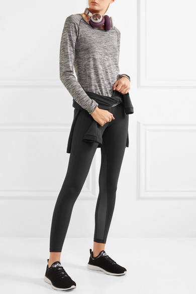 Nike Power Lux Leggings aus Dri-FIT-Stretch-Material mit Mesh-Einsätzen