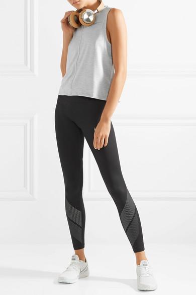 Nike Power Flash Leggings aus bedrucktem Dri-FIT-Stretch-Material mit Mesh-Einsätzen