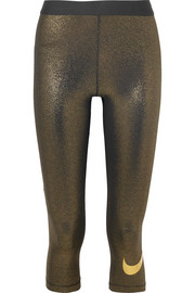 Legging raccourci en lamé stretch Dri-FIT Sparkle Pro Cool