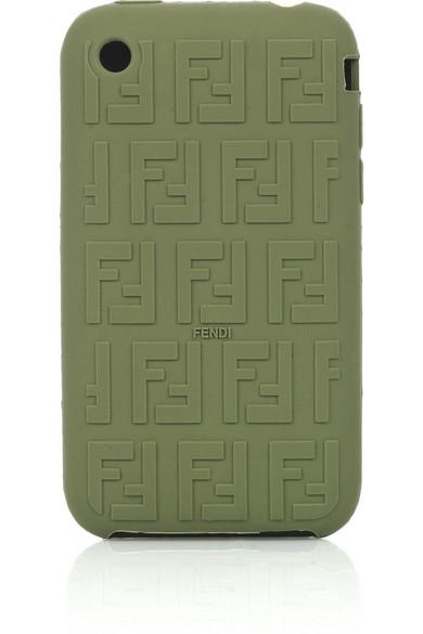Fendi ff logo rubber iphone cover net a porter com for Net a porter logo