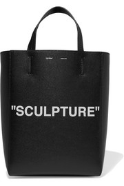 Off-White Medium printed textured-leather tote
