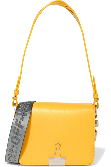 Off-White - Textured-leather Shoulder Bag - Yellow
