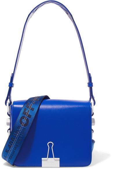 Off-White - Embellished Leather Shoulder Bag - Blue