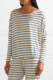 Eberjey Lounge striped jersey pajama top