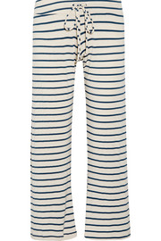 Eberjey Lounge striped jersey pajama pants