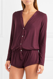 Eberjey Lila stretch-modal jersey playsuit