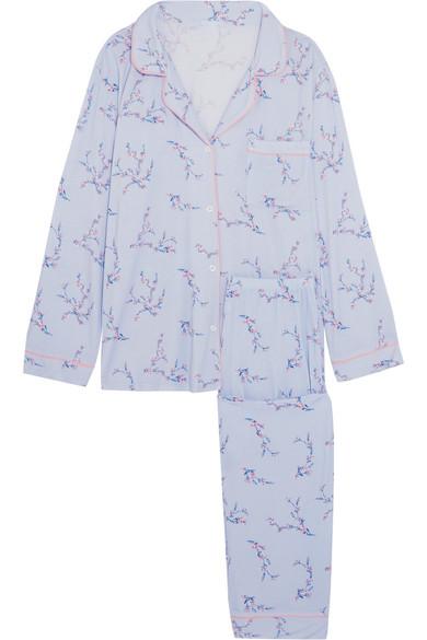 Floral Print Jersey Pajama Set by Eberjey