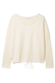 Eberjey Bruna quilted cotton-jersey sweatshirt