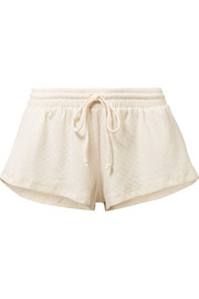 Eberjey Bruna quilted cotton-blend jersey shorts