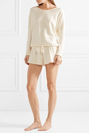 Bruna quilted cotton-blend jersey shorts