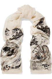 Witchcraft fil coupé silk-blend chiffon scarf