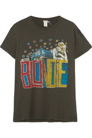 Blondie distressed printed cotton-jersey T-shirt