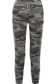Splendid Camouflage-print terry track pants