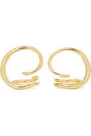 Round Trip gold vermeil earrings