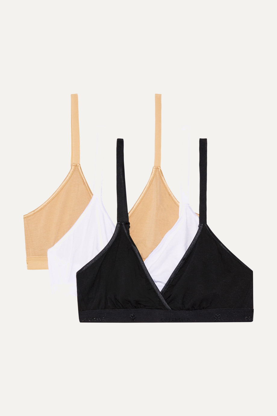 Cosabella Talco set of three stretch-jersey soft-cup triangle bras
