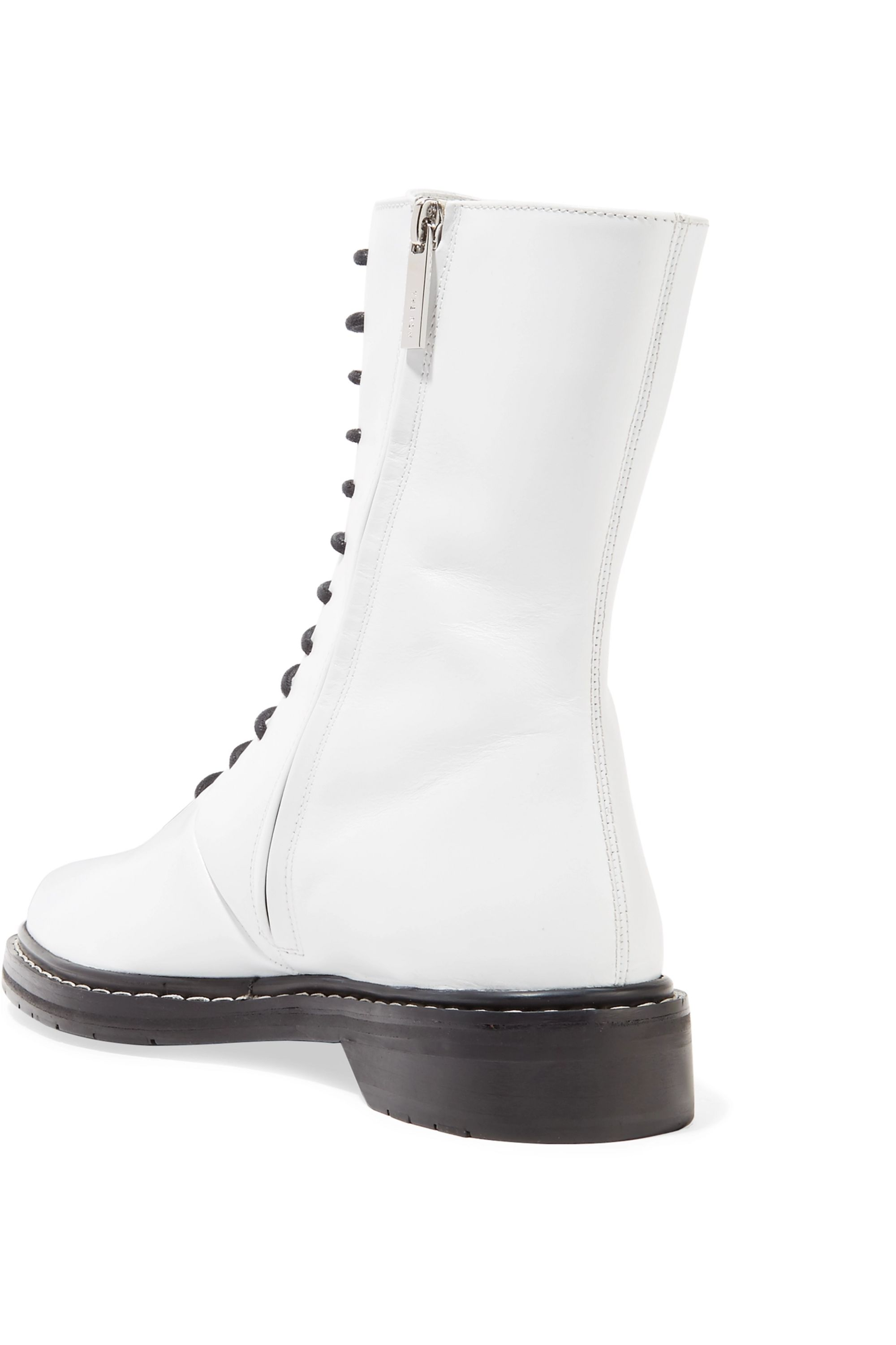 The Row Fara leather ankle boots