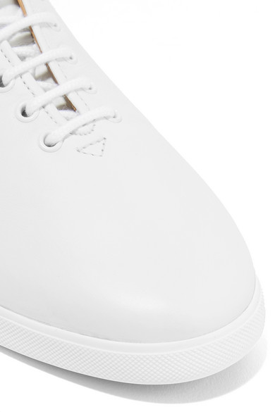 The Row Dean bestickte Sneakers aus Leder