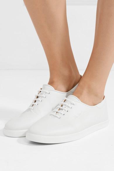 The Row | Dean bestickte Leder Sneakers aus Leder bestickte b8e758