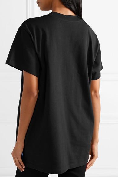 adidas Originals Trefoil T-Shirt aus Baumwoll-Jersey mit Metallic-Print