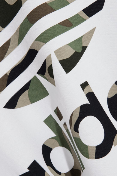 adidas Originals Big Trefoil bedrucktes T-Shirt aus Baumwoll-Jersey in Oversized-Passform