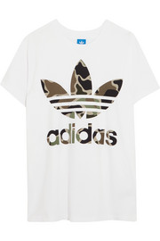 Big Trefoil oversized printed cotton-jersey T-shirt