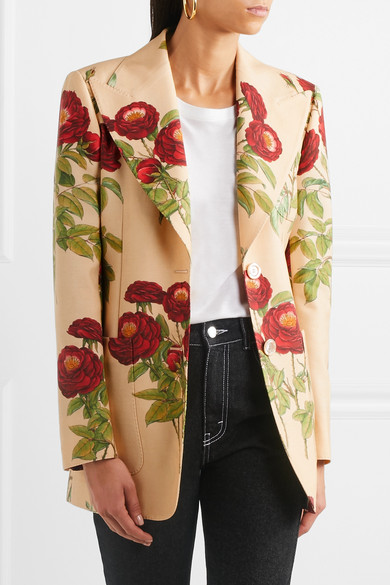 Gucci Blazer aus einer Woll-Mohairmischung mit floralem Print Rabatt Breite Palette Von Spielraum Günstiger Preis AZKQwCjRi
