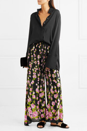 Gucci Printed jacquard wide-leg pants