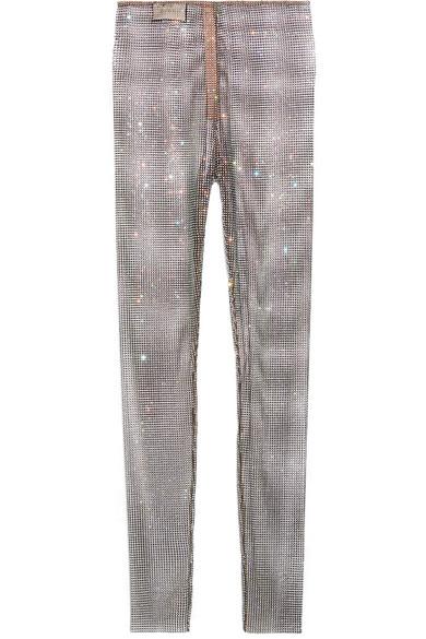 d98f1ffdf67 Gucci. Crystal-embellished stretch-mesh leggings