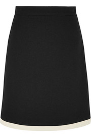 Two-tone wool mini skirt