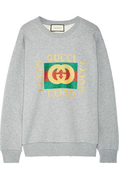 097b9a0a Oversized appliquéd printed cotton-terry sweatshirt