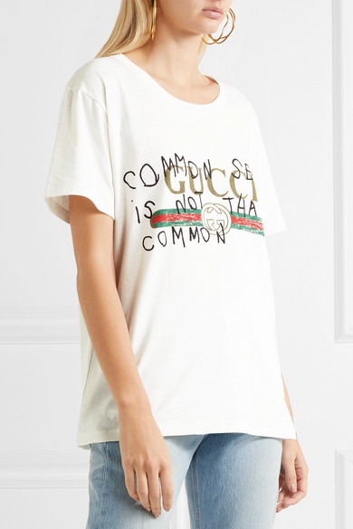 2af0bd8e9 Gucci | Printed cotton-jersey T-shirt | NET-A-PORTER.COM