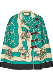 Gucci Printed silk-satin twill blouse