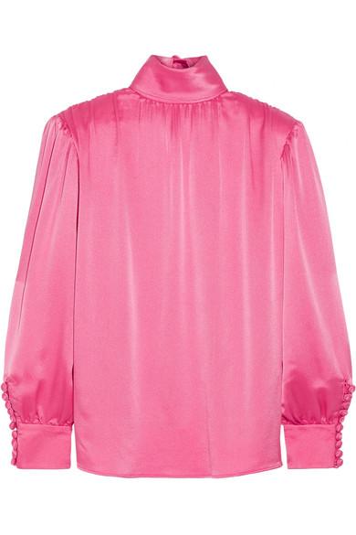 Gucci - Silk-satin Blouse - Pink