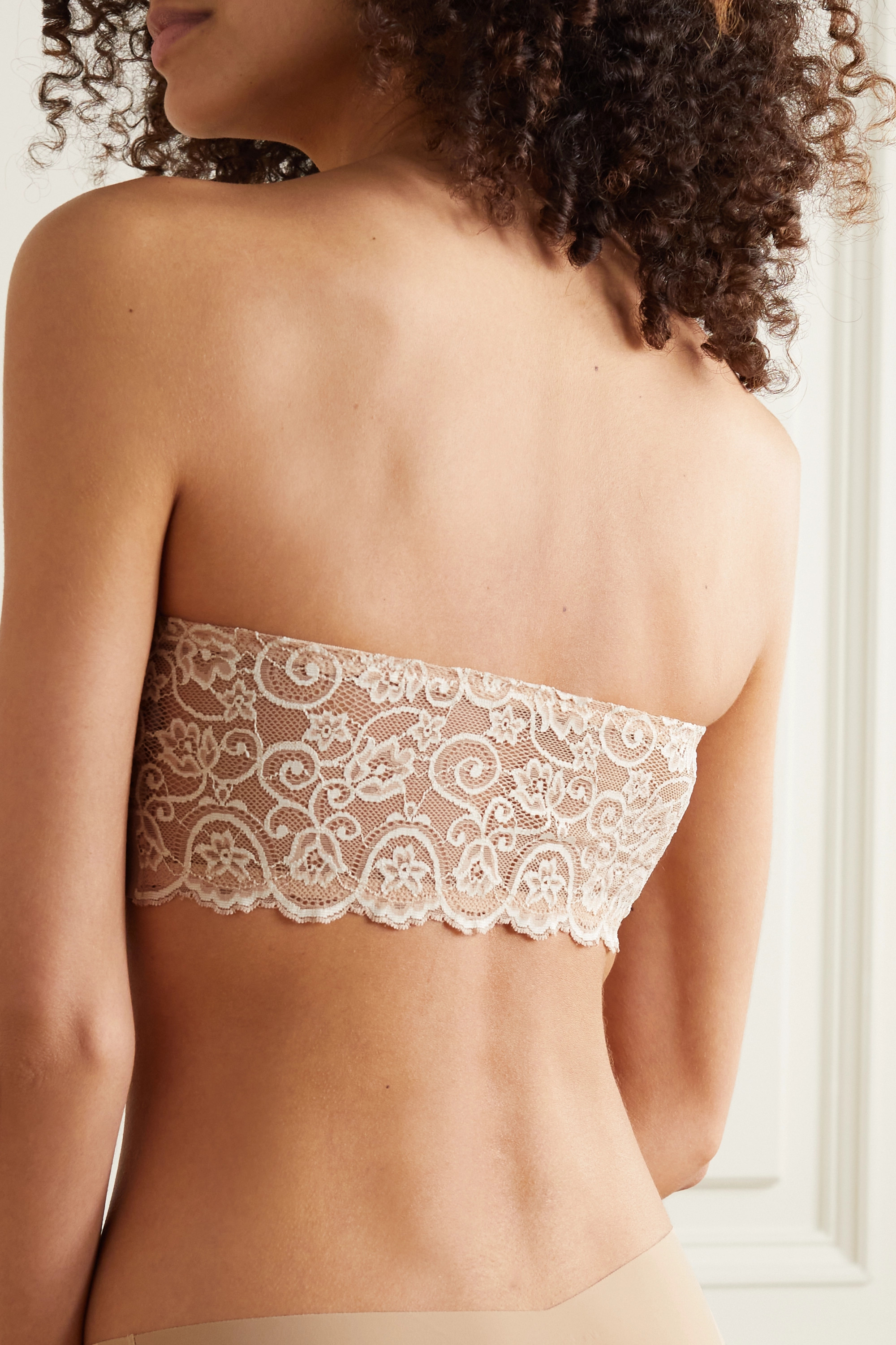 Commando Double Take lace-paneled stretch bandeau bra