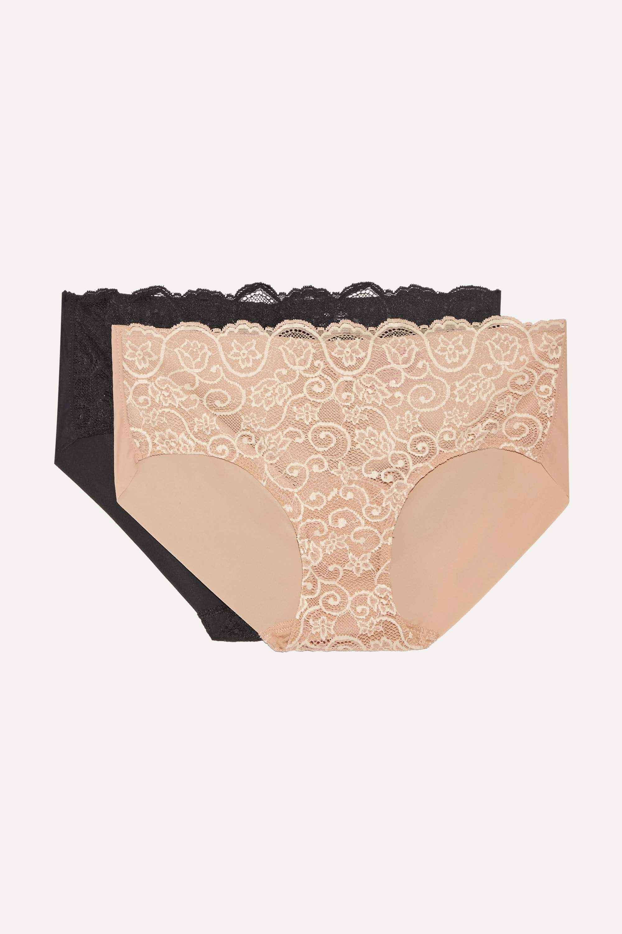 Commando Set of two Double Take lace-paneled stretch briefs