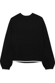 Tie-back cotton and cashmere-blend sweater