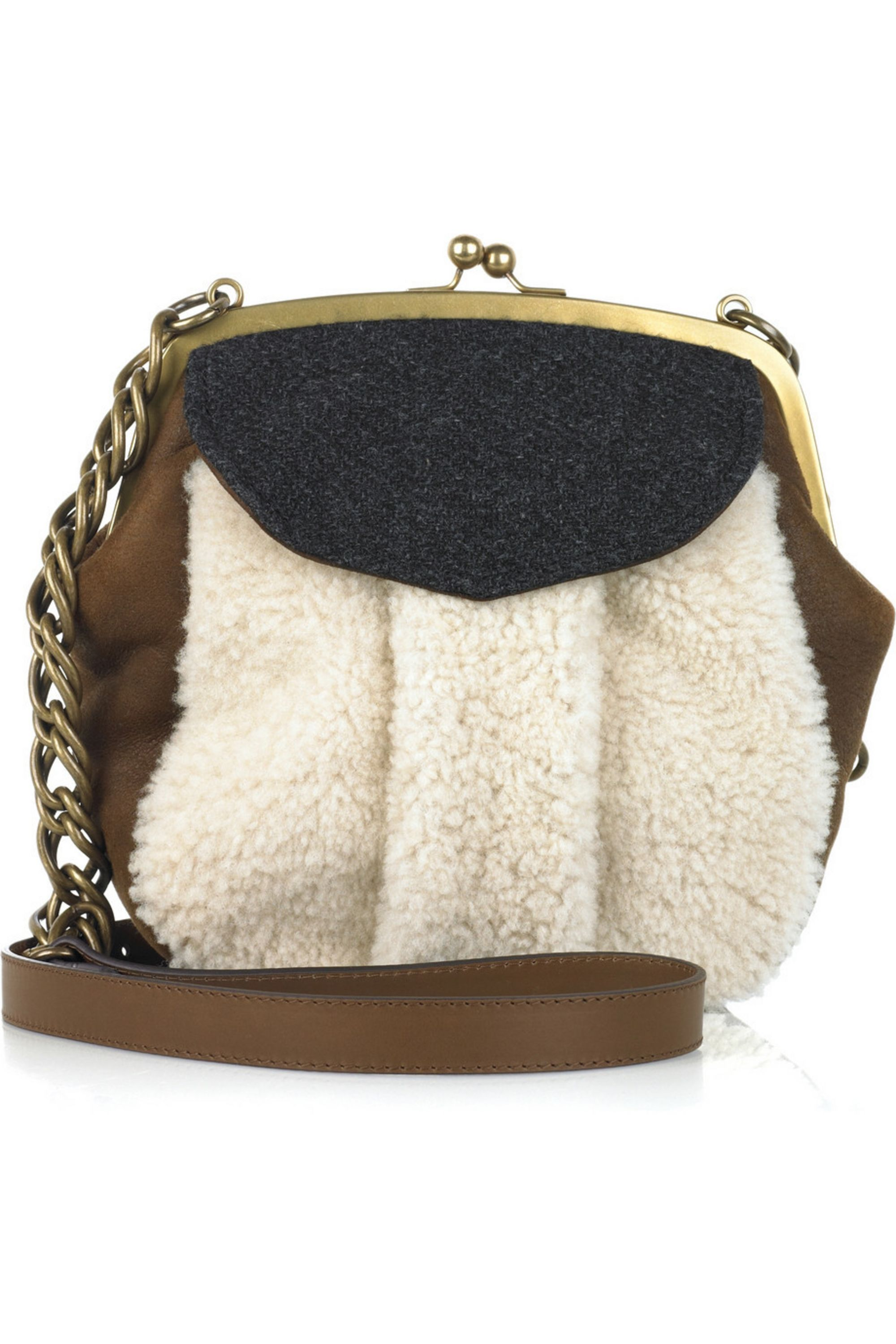 Marni Shearling cross-body bag