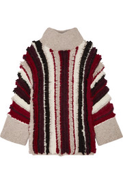 Uma fringed alpaca-blend turtleneck sweater