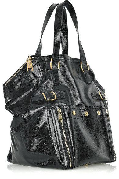 f5687ca9 Downtown patent-leather tote