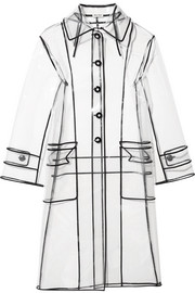 Miu Miu Grosgrain-trimmed PVC trench coat